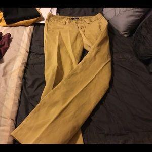 pair of yellow goldfish pair of gap stretch pants